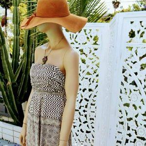 Anthropologie edme & esyllte strapless maxi dress
